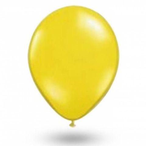 Balão Amarelo Citrino Tamanho 7 C/50 - São Roque