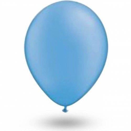 Balão Azul Baby Tamanho 9 C/50 - São Roque