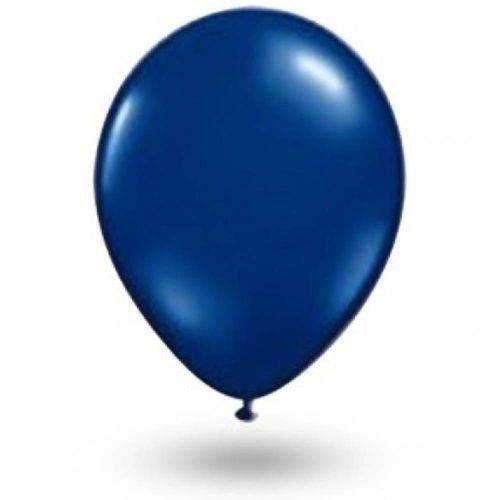 Balão Azul Cobalto Tamanho 9 C/50 - São Roque