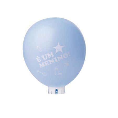 Balão/Bexiga Azul Claro é Menino Nº 11 - 25 Unidades