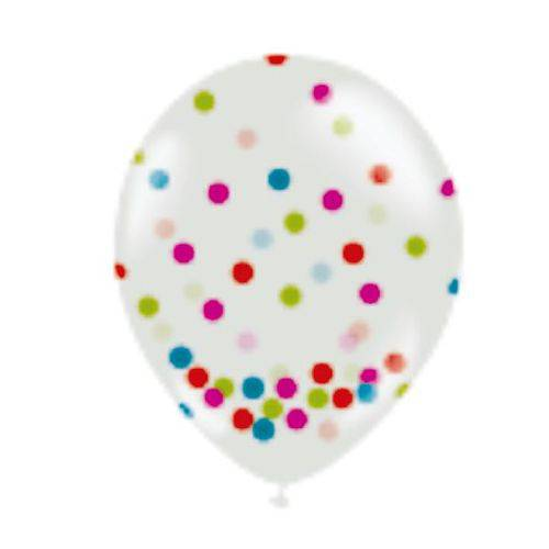 Balão Bexiga Confete de Neon N 12 - com 12 Unidades