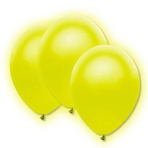 Balão Bexiga de Neon Amarelo Nº9 - com 30 Unidades