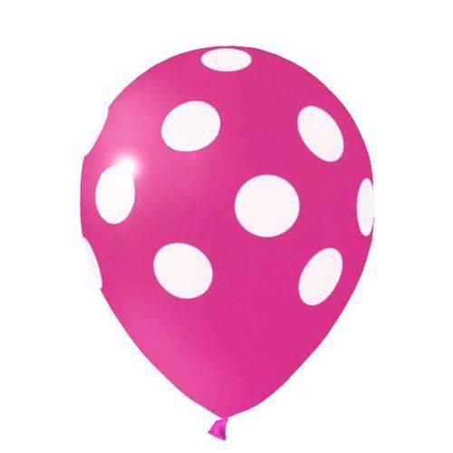 Balão / Bexiga Happy Day N11 Confete Rosa / Branco C/25