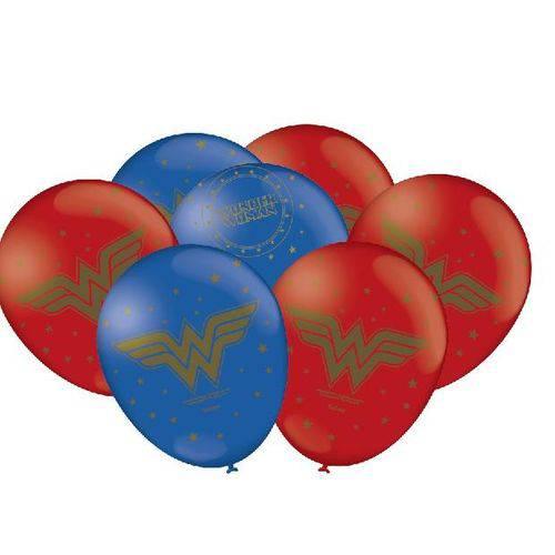 Balão Bexiga Látex Mulher Maravilha -25 Unidades