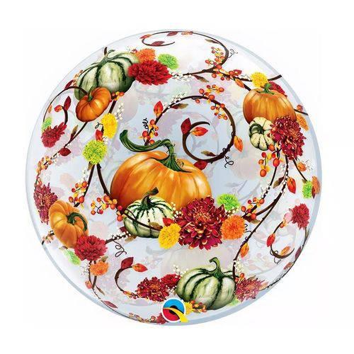 Balão Bubble - Abóboras Halloween 22 Polegadas - Qualatex