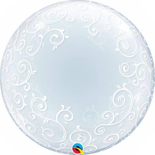 Balão Bubble - Arabesco - 24 Polegadas - Qualatex
