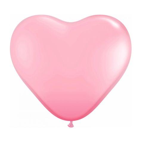 Balão Coração Rosa Tamanho 6 C/50 - Pic Pic