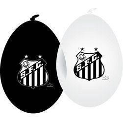 Balão de Aniversário Santos - 25 Unidades - Yonifest