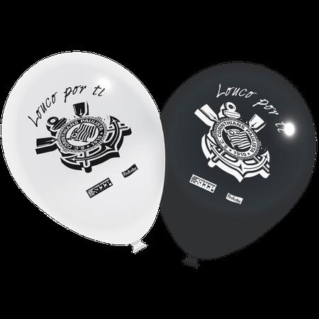 Balão de Látex Corinthians - 25 Unidades