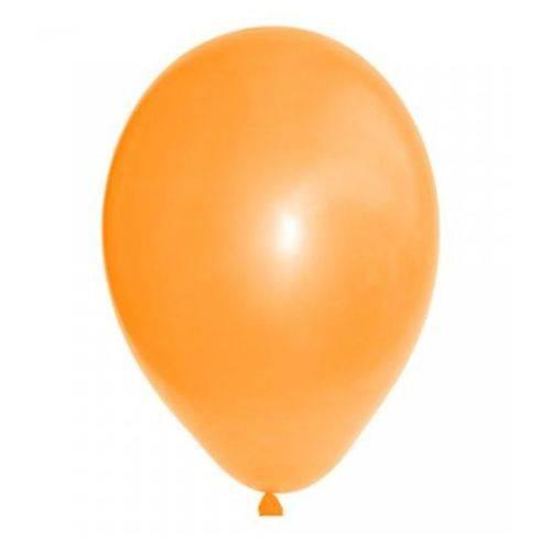 """Balão de Látex Laranja Mandarim 7"""" 18cm 50un São Roque"""