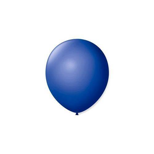 Balão de Látex Liso Azul Cobalto 7 Polegadas com 50 Un.
