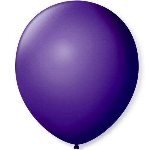 Balão de Látex Liso Roxo Uva 7 Polegadas com 50 Un.