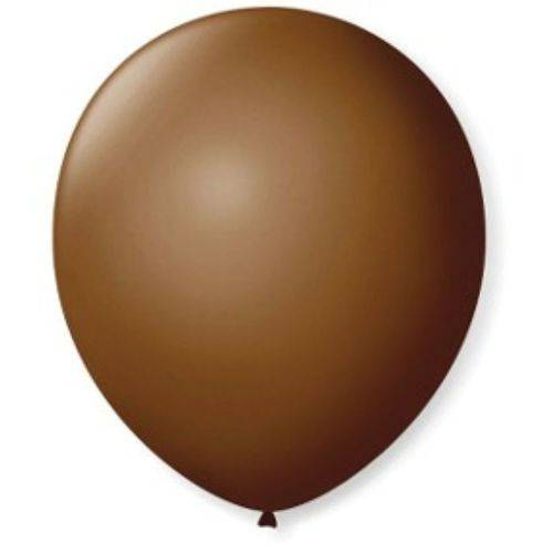 """Balão de Látex Marrom 7"""" 18cm 50un São Roque"""