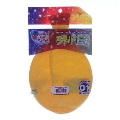 Balão de Látex Super Amarelo Citrino São Roque