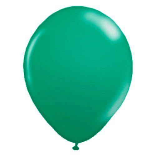 Balão de Látex Verde Bandeira 9? com 50 Unidades Balloontech
