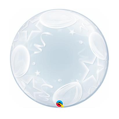 Balão Deco Bubbles Balões e Estrelas 61cm Qualatex