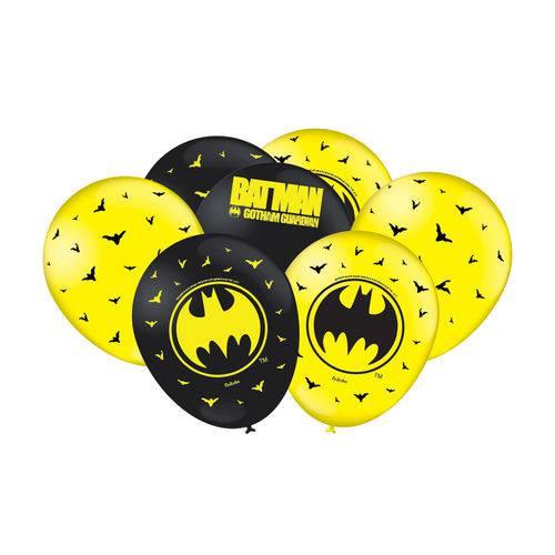 Balão Festcolor Nº9 Batman C/25 Unidades