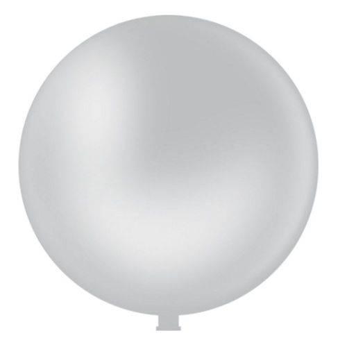 "Balão Látex 350 Maxiball Branco 40"" 101 Cm 1 Und Pic Pic"