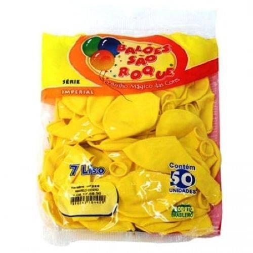 Balao Liso Amarelo Nº7.0 C/50un Sao Roque