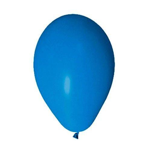 Balão Liso Azul Escuro Tamanho 7 C/50 - Pic Pic