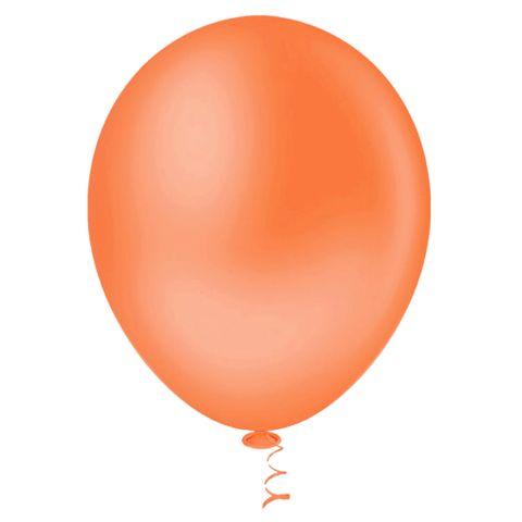 Balão Liso Laranja Tamanho 7 C/50 - Pic Pic