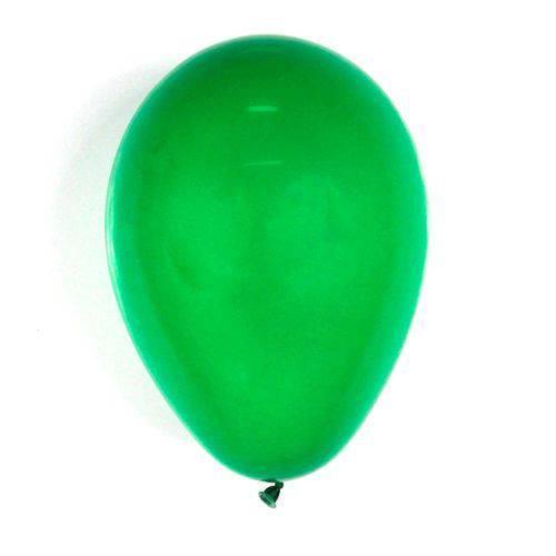 Balão Liso Verde Bandeira Tamanho 7 C/50 - Pic Pic