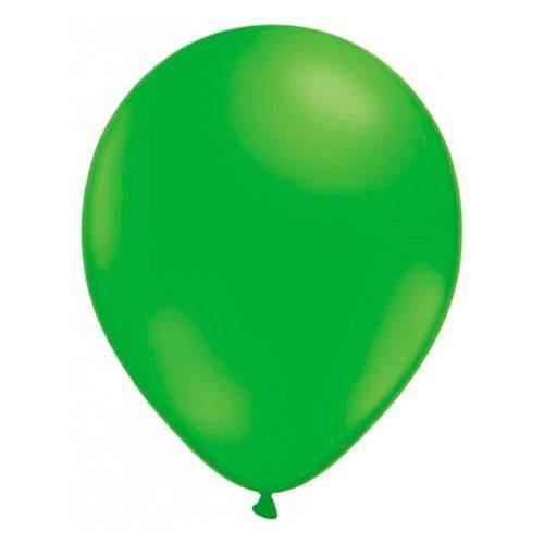 Balão Liso Verde Limão Tamanho 7 C/50 - Pic Pic