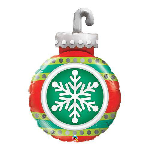 Balão Metalizado 35 Polegadas - Snowflake Ornament - Qualatex