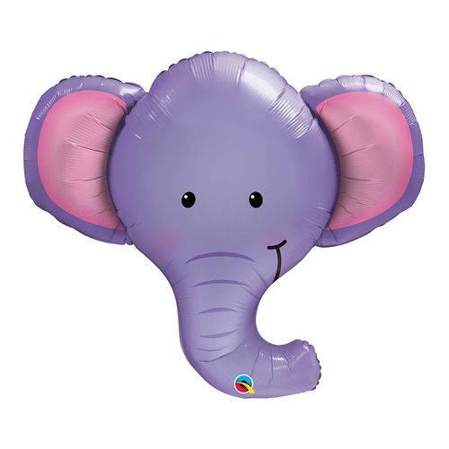 Balão Metalizado 39 Polegadas - Ellie o Elefante - Qualatex