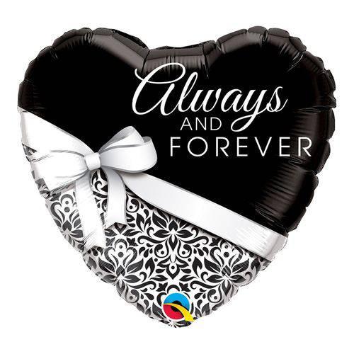 Balão Metalizado Coração 18 Polegadas - para Todo Sempre- Qualatex