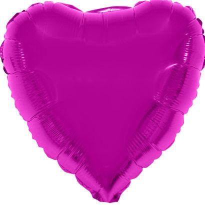 Balão Metalizado Coração 28cm Pink com Vareta Funny Fashion