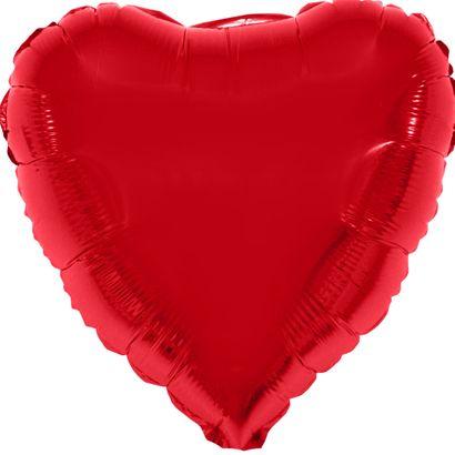 Balão Metalizado Coração 52x46cm Vermelho Funny Fashion