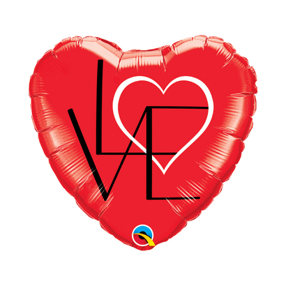 Balão Metalizado Coração Affection 18''46cm Qualatex
