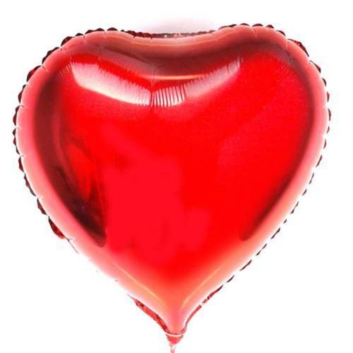 Balão Metalizado Coração Vermelho 48cm