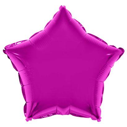 Balão Metalizado Estrela 53cm Pink Funny Fashion