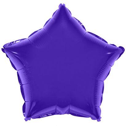 Balão Metalizado Estrela 53cm Roxo Funny Fashion