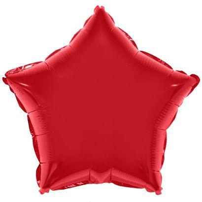 Balão Metalizado Estrela 53cm Vermelho Funny Fashion