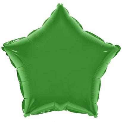 Balão Metalizado Estrela 28cm Verde com Vareta Funny Fashion
