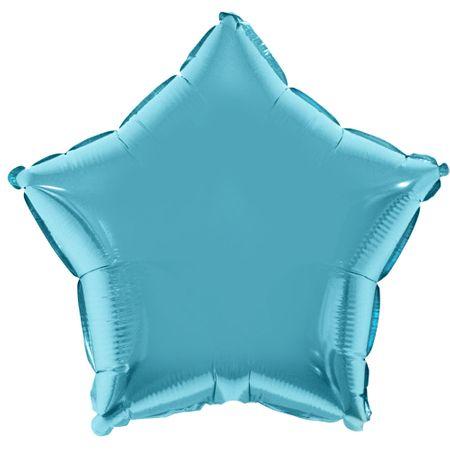 Balão Metalizado Estrela Azul Clara 53x46cm