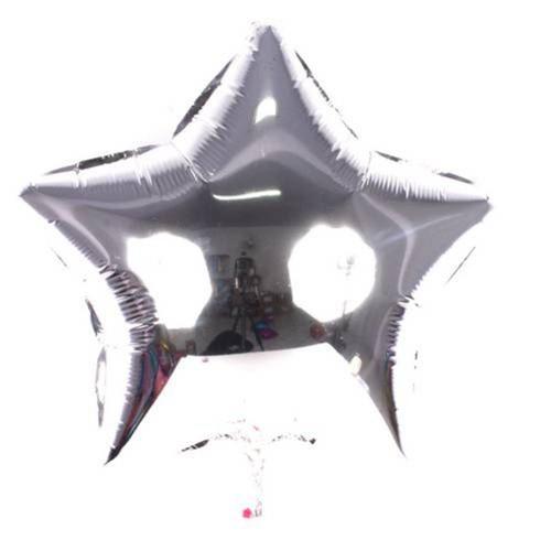 Balão Metalizado Estrela Prata 48cm