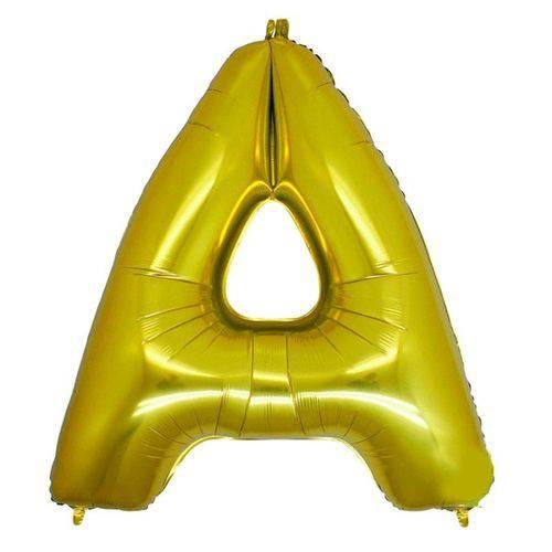 Balão Metalizado Letra a Ouro 40 Cm