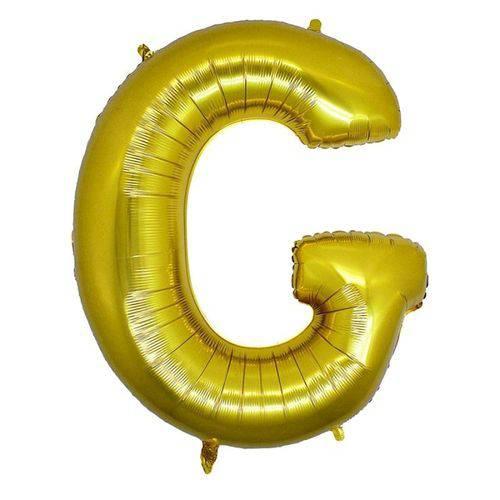 Balão Metalizado Letra G Ouro 40 Cm