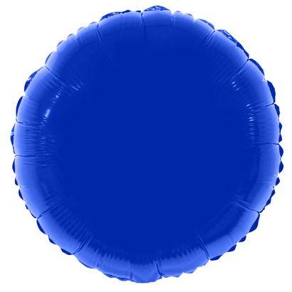 Balão Metalizado Redondo 56cm Azul Escuro Funny Fashion