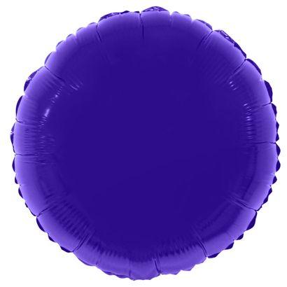 Balão Metalizado Redondo 56cm Roxo Funny Fashion