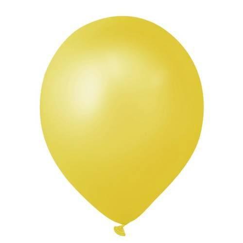 Balao N°7 Cintilante Amarelo com 50 Unidades