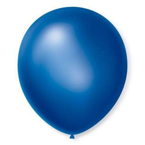 Balao N°7 Cintilante Azul com 50 Unidades