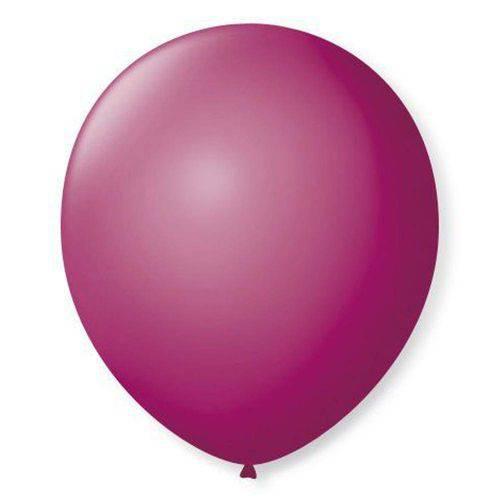Balão N°7 Liso Purpura com 50 Unidades