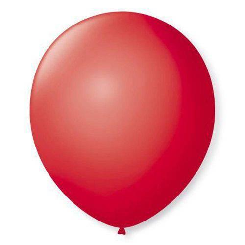 Balão N°7 Liso Rubi com 50 Unidades