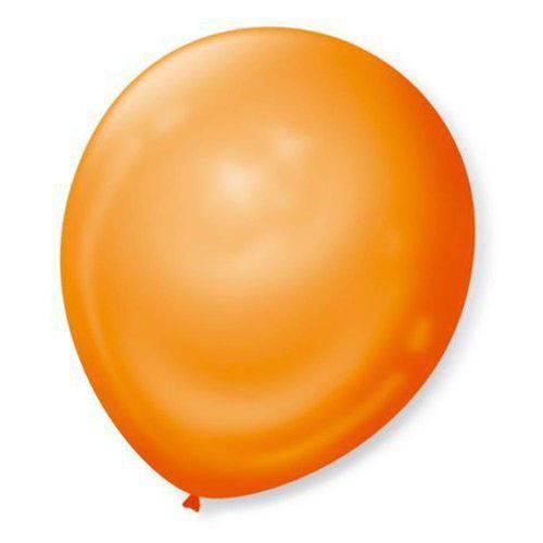 Balão N°7 Liso Tangerina com 50 Unidades