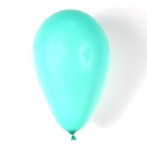 Balão N°7 Liso Tiffany com 50 Unidades